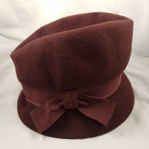 Vintage Wool RITZ Henry Pollak NY Brown Maxine Hat